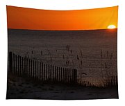 Fishing Boat And The Sunrise Tapestry
