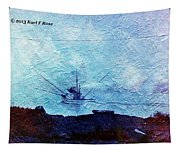 Fishing Boat As A Painting Tapestry