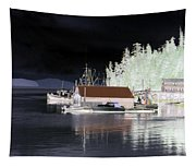Fishing Boat Dock - Ketchican - Alaska - Photopower 01 Tapestry