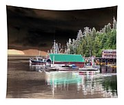 Fishing Boat Dock - Ketchican - Alaska - Photopower 02 Tapestry