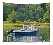 Fishing Boat Cape Neddick Maine Tapestry