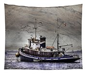 Fishing Boat Tapestry