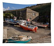 Fishing Boats At Mullion Cove Tapestry