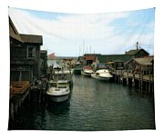 Fishing Boats In Fishtown Tapestry
