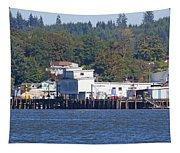 Fishing Docks On Puget Sound Tapestry