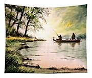 Fishing For Bass - Greenbrier River Tapestry