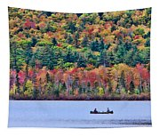 Fishing In The Fall Colors On Lake Chocorua Tapestry