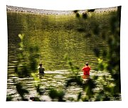 Fishing In The Pond Tapestry