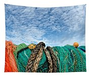 Fishing Nets And Alto-cumulus Clouds Tapestry