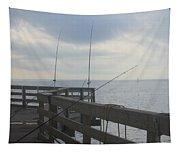 Fishing Off Rodanthe Pier Tapestry