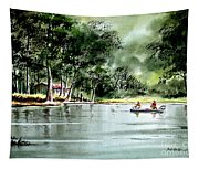 Fishing On Lazy Days - Aucilla River Florida Tapestry