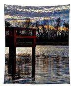 Fishing Pier Sunset  Tapestry