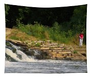 Fishing The Spillway Tapestry