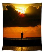 Fishing The Sun Tapestry