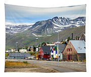 Fishing Village In Iceland Tapestry