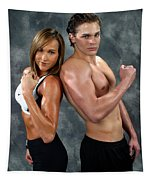 Fitness Couple 39 Tapestry
