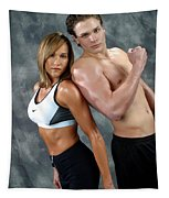 Fitness Couple 43 Tapestry