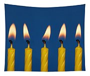 Five Candles Burning Tapestry