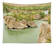 Five Finger Rapids Rocks Yukon River Yt Canada Tapestry
