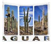 Five Saguaros Tapestry