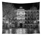 Five Till Seven In Black And White Tapestry