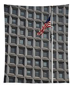 Flag And Windows Tapestry