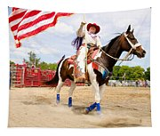 Flag Lady Tapestry
