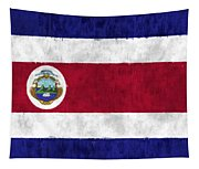 Flag Of Costa Rica Tapestry