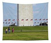 Flags Around Washington Tapestry