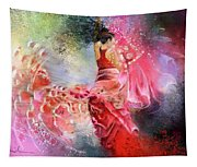 Flamencoscape 13 Tapestry