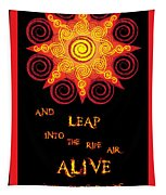 Flaming Celtic Sun Tapestry