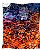 Flaming Vette 2 Tapestry