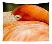 Flamingo Napping Tapestry