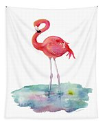 Flamingo Pose Tapestry
