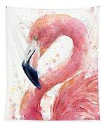 Flamingo Watercolor Painting Tapestry