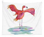 Flamingo Wings Tapestry