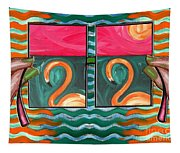 Flamingoes 2 Tapestry