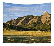 Flatirons From Chautauqua Park Tapestry