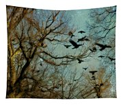 Flight Of The Forest Crows Tapestry