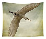 Flight Of The Egret Tapestry