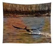 Flight Of The Pelican-featured In Wildlife-newbies And Comfortable Art Groups Tapestry