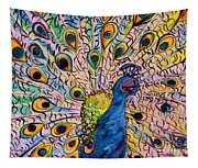 Flirty Peacock Tapestry