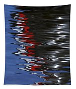 Floating On Blue 14 Tapestry