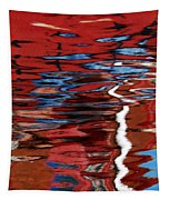 Floating On Blue 28 Tapestry