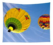 Floating Upward Hot Air Balloons Tapestry