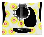 Floral Abstract Guitar 22 Tapestry