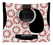 Floral Abstract Guitar 24 Tapestry