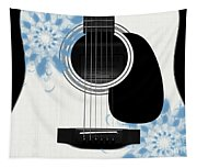 Floral Abstract Guitar 25 Tapestry