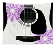 Floral Abstract Guitar 26 Tapestry