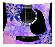 Floral Abstract Guitar 27 Tapestry
